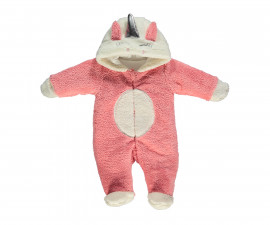 ватиран бебешки гащеризон с качулка и цип Unicorn, марка Bebetto, фабр.№ K2880, момиче, 3-9 м.