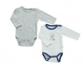 бебешко боди с дълъг ръкав Confetty Party, марка Bebetto, фабр.№ T2030, момче, 0-12 м., 2 бр.