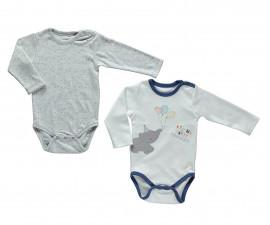 бебешко боди с дълъг ръкав Confetty Party, марка Bebetto, фабр.№ T2031, момче, 12-36 м., 2 бр.