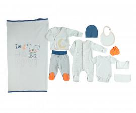 бебешки комплект 10 части Confetty Party, марка Bebetto, фабр.№ Z646, момче, 0-3 м.