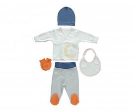 бебешки комплект 5 части Confetty Party, марка Bebetto, фабр.№ Z647, момче, 0-3 м.