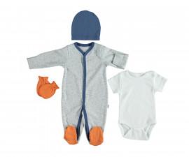 бебешки комплект 4 части Confetty Party, марка Bebetto, фабр.№ Z648, момче, 0-3 м.