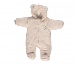 ватиран бебешки гащеризон с качулка Happy Bears, марка Bebetto, фабр.№ K2804, момиче, 3-9 м.