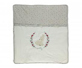 памучно подплатено бебешко одеяло Sweety, марка Bebetto, фабр.№ B670, момиче, 80 х 85 см.