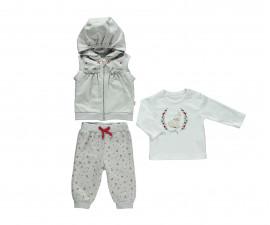 бебешки комплект елек с качулка, блуза и панталон Sweety, марка Bebetto, фабр.№ K2766, момиче, 3-24 м.