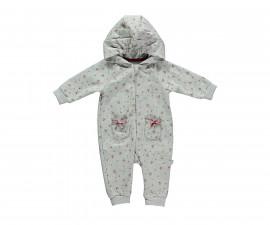 бебешки гащеризон с качулка и цип Sweety, марка Bebetto, фабр.№ K2768, момиче, 3-12 м.