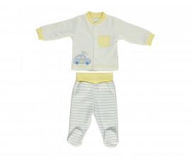 Bebetto Dear Car Cotton Baby Pajamas Set With Bootee - 2 Pcs - F1109