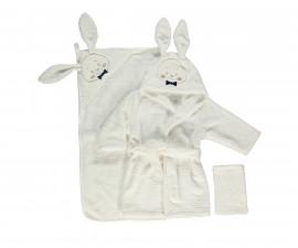 Bebetto Gentleman Rabbit Woven Baby Bathrobe 4 Pcs Set - H409-1/2Y