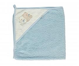 Bebetto Little Bears Woven Baby Bathtowel With Hood - H412