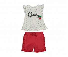 Bebetto Miss Cherry Cotton Baby 2 Pcs Set (T-Shirt+Shorts Pant) - K2971