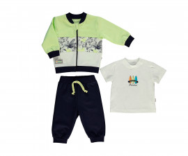 Bebetto Surfing Club Cotton Baby 3 Pcs Set (Cardigan+T-Shirt+Pants) - K2993