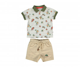 Bebetto Tropic Cotton Baby 2 Pcs Set (T-Shirt+Shorts Pant) - K3005