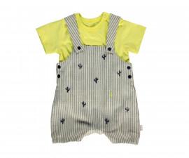 Bebetto Free Hugs Weaving Baby 2 Pcs Set (Salopette+T-Shirt) - K3008
