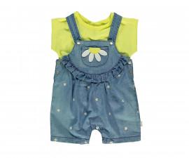 Bebetto Daisy World Baby 2 Pcs Set (Salopette+T-Shirt) - K3047