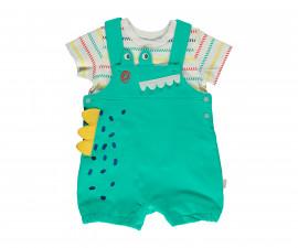 Bebetto Cool Dino Cotton Baby 2 Pcs Set (Tshirt+Salopette) - K3058