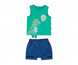 Bebetto Cool Dino Baby 2 Pcs Set (Athlete+Short Pants) - K3059