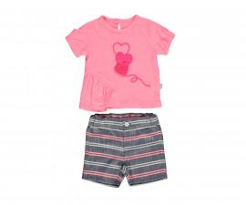 Bebetto Shiny Heart Weaving Baby 2 Pcs Set (T-Shirt+Shorts Pant) - K3060