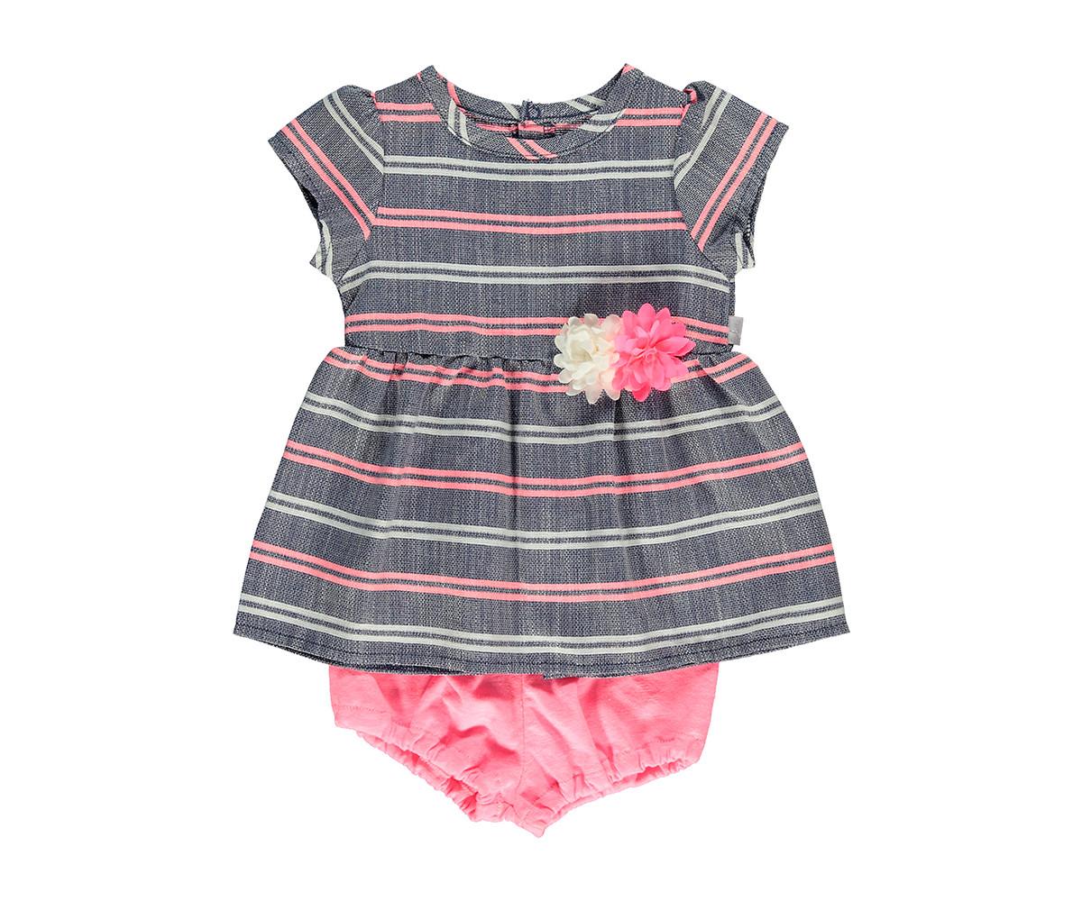 Bebetto Shiny Heart Weaving Baby 2 Pcs Set (Dresses+Underwear) - K3061