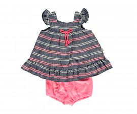 Bebetto Shiny Heart Weaving Baby 2 Pcs Set (Dresses+Underwear) - K3063