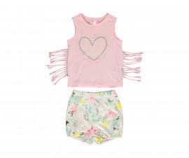 Bebetto Flowers Cotton Baby 2 Pcs Set (Athlete+Shorts Pant) - K3085