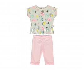 Bebetto Flowers Cotton Baby 2 Pcs Set (T-Shirt+Tight Pants) - K3086