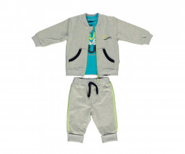 Bebetto Run Baby Cotton Baby 3 Pcs Set (Cardigan+T-Shirt+Pants) - K3139