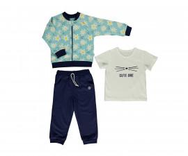 Bebetto Cute One Cotton Baby 3 Pcs Set (Cardigan+Sweatshirt+Pants) - K3148
