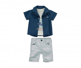 Bebetto Whale Weaving Baby 3 Pcs Set (Shirt+Pants Short) - K3161
