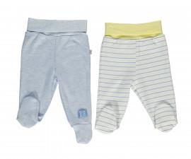 Bebetto Dear Car Cotton Baby Pants W/Feet 2 Pcs - T2288