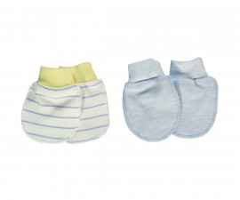 Bebetto Dear Car Cotton Baby Mittens 2 Pcs - T2295-0/3M