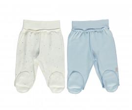 Bebetto Little Bears Cotton Baby Pants W/Feet 2 Pcs - T2300