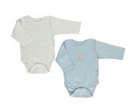 Bebetto Little Bears Cotton Baby Bodysuit 2 Pcs - Long Sleeved - Month - T2303