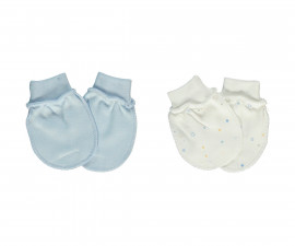 Bebetto Little Bears Cotton Baby Mittens 2 Pcs - T2307-0/3M
