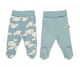 Bebetto Dreaming Cotton Baby Pants W/Feet 2 Pcs - T2314gp