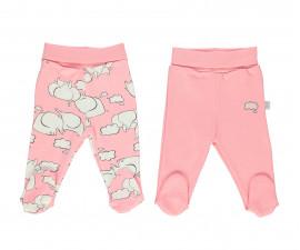 Bebetto Dreaming Cotton Baby Pants W/Feet 2 Pcs - T2314p