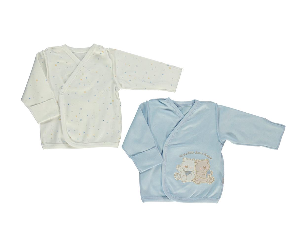 Bebetto Little Bears Cotton Padded Overtap 2 Pcs Pack - T2326-0/3M