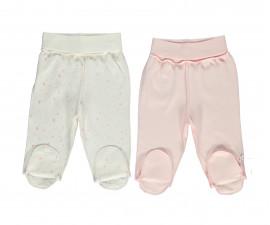 Bebetto My Dream World Cotton Baby Pants W/Feet 2 Pcs - T2329