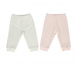 Bebetto My Dream World Cotton Baby Pants W/Feet 2 Pcs - T2330