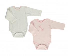 Bebetto My Dream World Cotton Baby Bodysuit 2 Pcs - Long Sleeved - Month - T2331