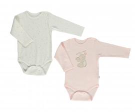 Bebetto My Dream World Cotton Baby Bodysuit 2 Pcs - Long Sleeved - Age - T2332