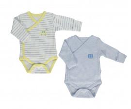 Bebetto Dear Car Cotton Baby Bodysuit 2 Pcs - Twilled - T2404-0/3M