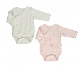 Bebetto My Dream World Cotton Baby Bodysuit 2 Pcs - Twilled - T2407-0/3M