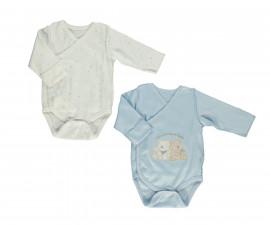 Bebetto Little Bears Cotton Baby Bodysuit 2 Pcs - Twilled - T2409-0/3M