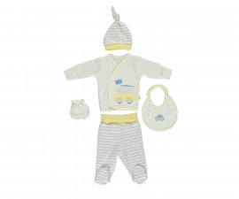 Bebetto Dear Car Cotton Baby Newborn Set 5 Pcs - Z697-0/3M