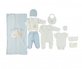 Bebetto Little Bears Cotton Baby Newborn Set 10 Pcs - Z700-0/3M