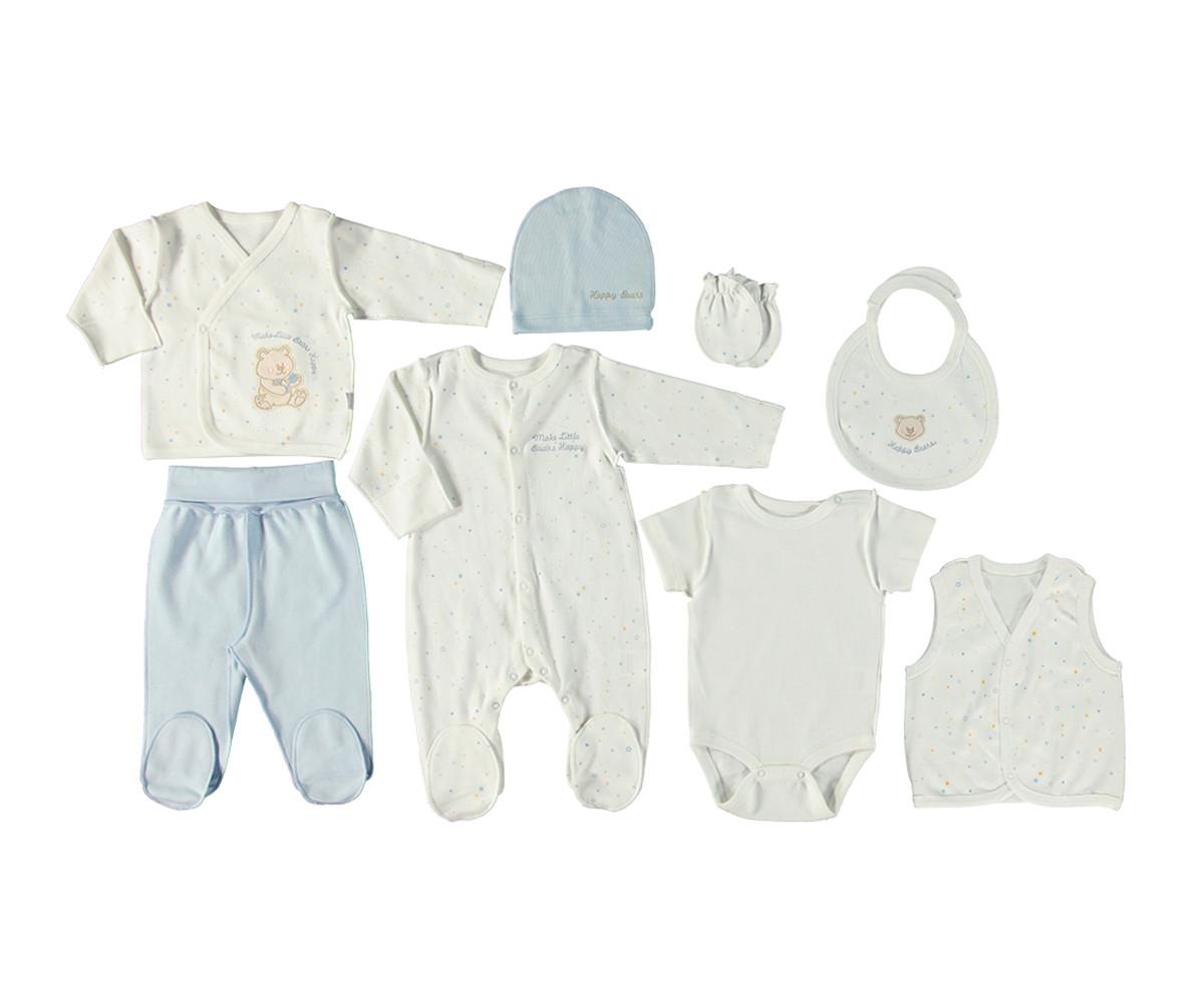 Bebetto Little Bears Cotton Baby Newborn Set 8 Pcs - Z701-0/3M