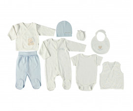 Bebetto Little Bears Cotton Baby Newborn Set 8 Pcs - Z701-0/3M