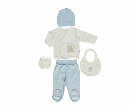 Bebetto Little Bears Cotton Baby Newborn Set 5 Pcs - Z702-0/3M