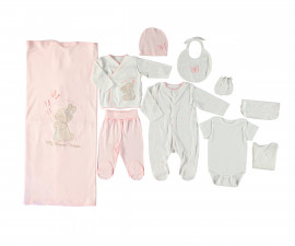 Bebetto My Dream World Cotton Baby Newborn Set 10 Pcs - Z711-0/3M