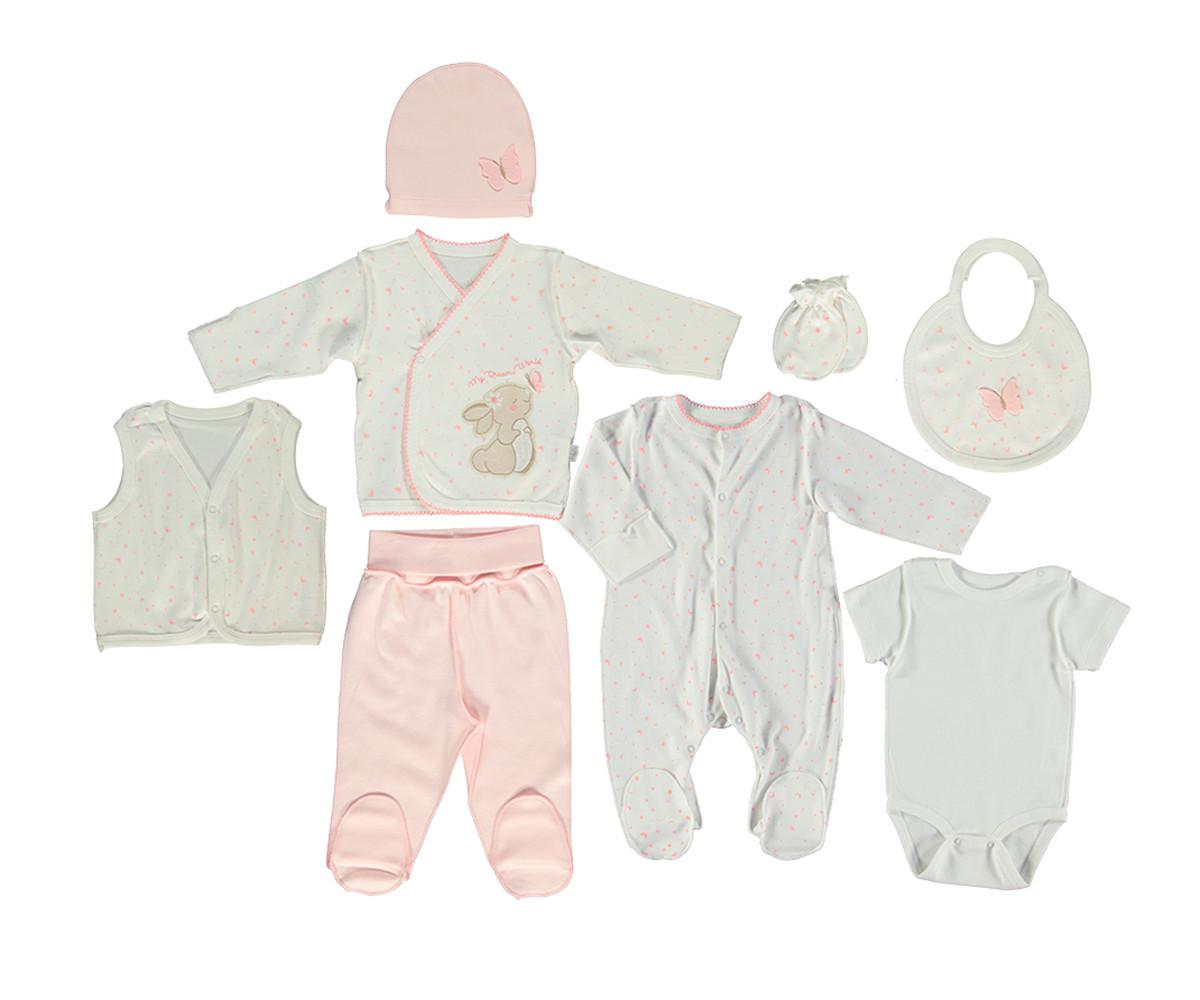 Bebetto My Dream World Cotton Baby Newborn Set 8 Pcs - Z712-0/3M